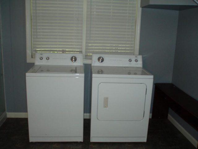 white laundry appliances