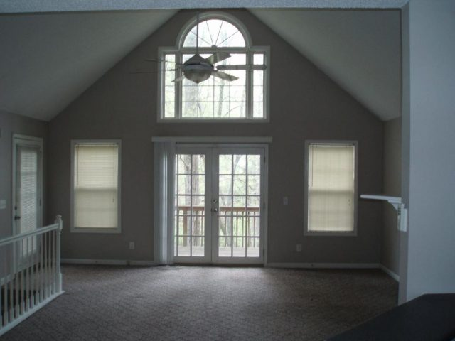 living area to deck entry