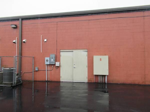 rear double door entrance