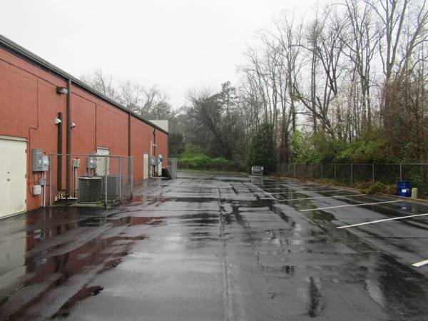 rear parking lot and entrance