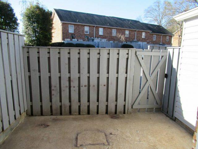 rear entrance patio